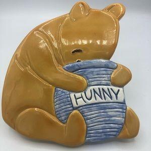 Winnie the Pooh Bear Hunny Pot Wall Plaque